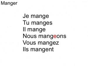 conjugaison-manger
